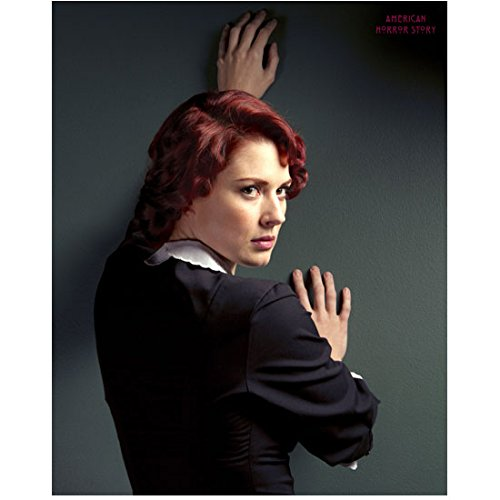 American Horror Story Alexandra Breckenridge as Young Moira Against Wall 8 x 10 Inch Photo -