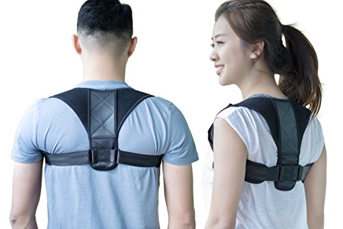 Back Brace Posture Corrector | Posture Support for Chest, Upper Back & Shoulder – Improve Posture & Neck Pain Relief | Comfortable & Breathable Neoprene by Manrover (REG (28''-43'' Chest)) by Manrover