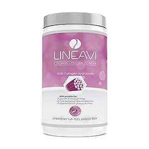 LINEAVI Colágeno Hidrolizado, proteína en Polvo, 100% colágeno de Vacuno, Fabricado en Alemania, el colágeno refuerza el Tejido conjuntivo, 410 g
