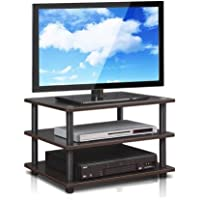 Furinno Turn-N-Tube Easy Assembly 4-Tier Corner TV Stand (Espresso)