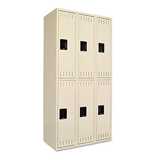 Tennsco DTS121836CSD 36 by 18 by 72 Double Tier Locker, 6-Locker Unit, Sand