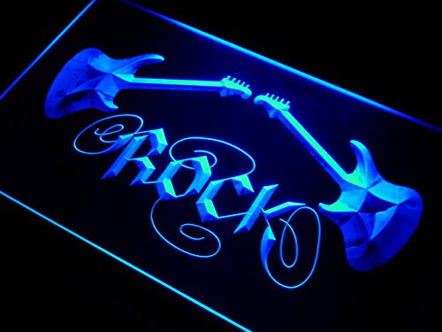 ADVPRO Guitar Rock n Roll LED Sign Neon Light Sign Display i047-b(c)