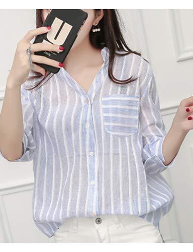 Deep YFLTZ Raye Gray V Chemise Femmes Coton en Hqrw1FPqX