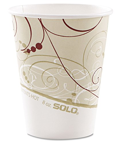 Solo Foodservice Solo 378SM-J8000 Single-Sided Poly Coated Paper Hot Cup, 8 oz Capacity, Symphony (Case of ()