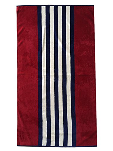 Espalma USA Patriotic Stripe Oversized Beach Towel Clearance, Over Sized Large Luxury 34