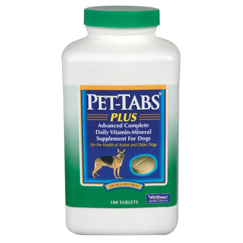 Pet-Tabs Plus Supplement Tablets for Dogs 180 Tablets, My Pet Supplies