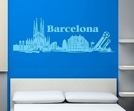 Tatuaje de Pared Skyline XXL Barcelona Pared Adhesivo Football ...