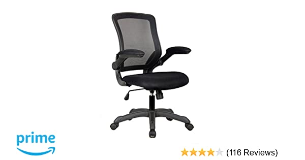 amazon com techni mobili mesh task office chair with flip up arms