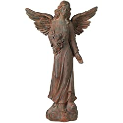"English Tudor Garden Angel 41 1/2"" High Statue"