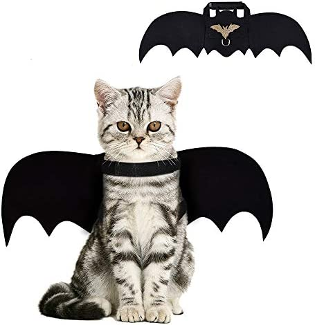 Cat Bat Costume,Halloween Cat Bat Wings for Pets,Cat Halloween Collar Pet Apparel for Small Dogs and Cats,Comfort Material Pet Costume for Halloween (Cat Bat Costume) 17