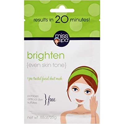 Miss Spa Brighten Pre-Treated Facial Sheet Mask (Pack of 6)