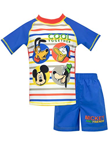 Disney Boys' Mickey Mouse Two Piece Swim Set Size 7 Blue