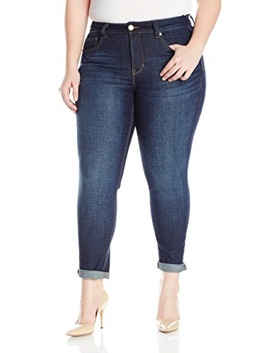 Melissa McCarthy Seven7 Women's Plus Size Roll Straight Jean with M Pockets, Denzel, 20W