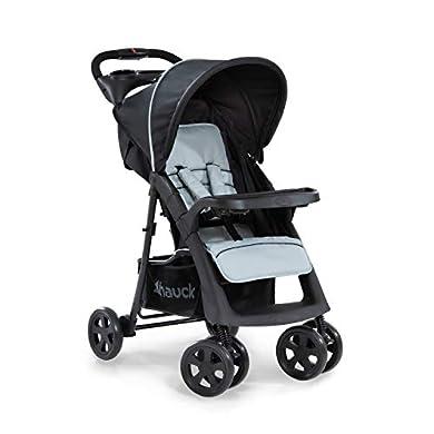 Hauck Shopper Neo II - Silla de paseo con respaldo reclinable, de 0 meses a 25 kg, plegado fácil y compacto, plegable con una mano, ligera, con botellero, negro gris a buen precio