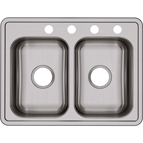 Dayton D225194 Equal Double Bowl Top Mount Stainless Steel Sink