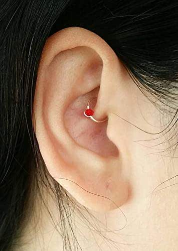 Faux Daith Ring - Delicate Cartilage Earring - Daith Ring - Faux Piercing - Daith Piercing - No Piercing Jewelry - 8mm Daith Ring