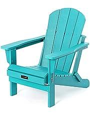 Folding Adirondack Chair Weather Resistant Patio Chair Outdoor Chairs Painted Adirondack Chairs - Aruba Blue
