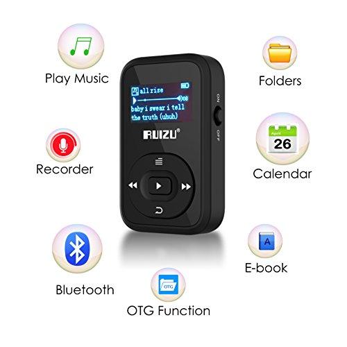 mp3 music player with bluetooth 2017 ruizu mini portable