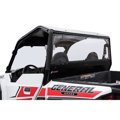 Tusk UTV Polycarb Rear Window Clear - Scratch Resistant - Fits: Polaris GENERAL 1000 EPS 2016-2018