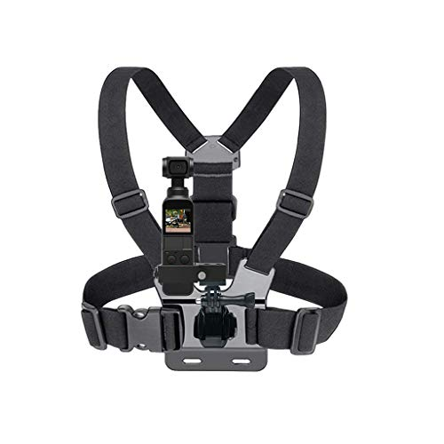 Harness Mount Chest Strap Mount for DJI OSMO Pocket [Quick-release] Adjustable, Fits for Mountain Biking, Skiing, Snowboarding, DJI Osmo Pocket Accessories (Fits Chest Pockets)