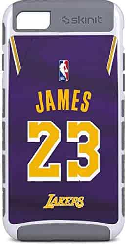 d31d3083dd6 Skinit NBA Los Angeles Lakers iPhone 8 Cargo Case - LeBron James Lakers  Purple Jersey Design