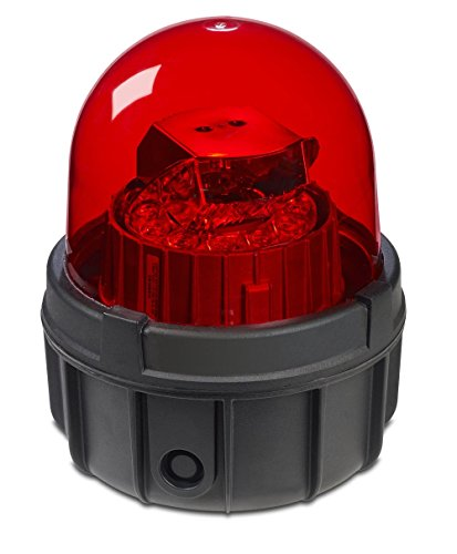 Federal Signal 371LED-120R Commander LED Rotating Warning Light, Surface Mount, 1/2'' NPT, 120 VAC, Red by Federal Signal (Image #1)