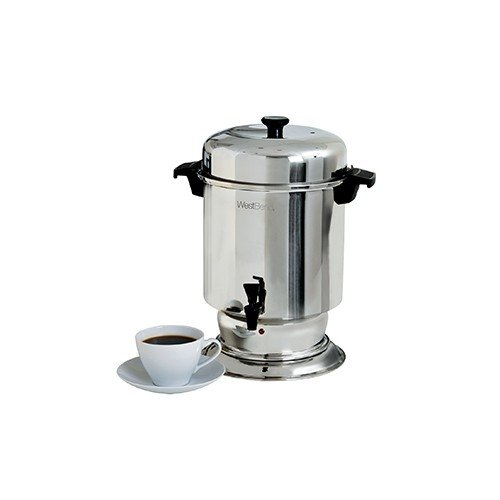 Focus Foodservice 13550 Traditional Coffee Maker, Stainless Steel, 55 Cups, 1500 Watts, 120V, 60Hz, 12-3/8'' x 12-5/8'' x 17'' by Focus Foodservice
