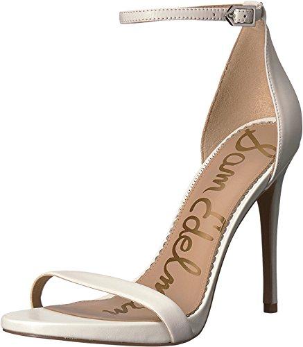 Sam Edelman Women's Ariella Strappy Sandal Heel Bright White Nappa Luva Leather 7.5 W US