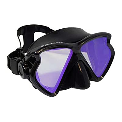 PROMATE Scuba Dive Diving Mask Snorkeling Color Correction Mask with Tinted Lenses Snorkel