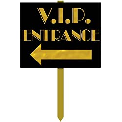 VIP Entrance Yard Sign Party Accessory (1 count)