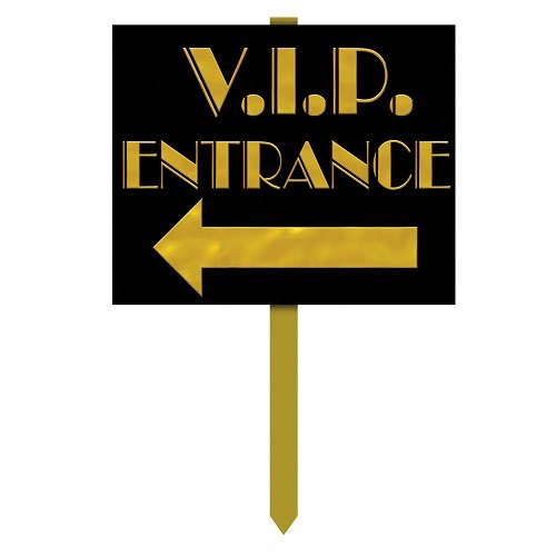 VIP Entrance Yard Sign Party Accessory (1 count)]()