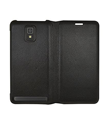 the latest 258db ddd32 COVERNEW Flip Cover for Lenovo A6600 Plus - Black