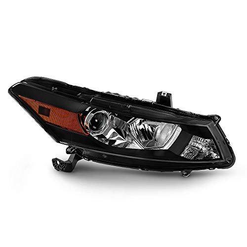 ACANII - [For 2008-2012 Honda Accord 2-Door Coupe] Factory Style Black Housing Headlight Headlamp - Passenger Side