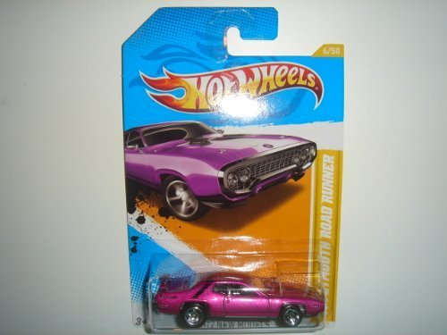 (2012 Hot Wheels New Models '71 Plymouth Road Runner Magenta #6/247)