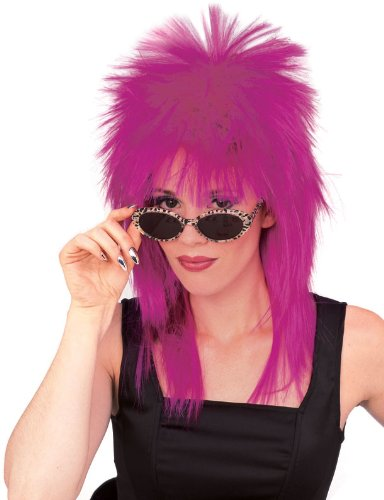 Rubie's Spiked Rocker Wig, Purple, One -