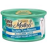 Fancy Feast Elegant Medleys Yellowfin Tuna Primavera With Garden Veggies And Greens (24/3-oz cans), My Pet Supplies