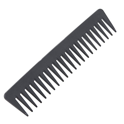 Tooth Carbon - Atonfun Black Carbon Fiber Tooth Comb 100% Anti static 230℃ Heat Resistant,Detangling Comb,Detangler Hair Comb for Long Wet Hair/Straighten Curly Hair