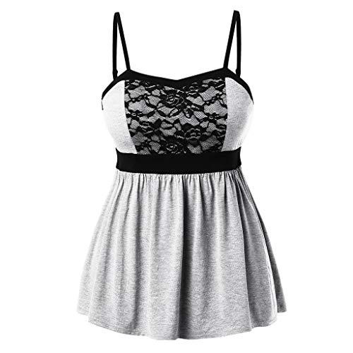 (kaifongfu Women Summer Vest Fashion Plus Size Lace Tops Sleeveless Camis Tank Tops Camisole)