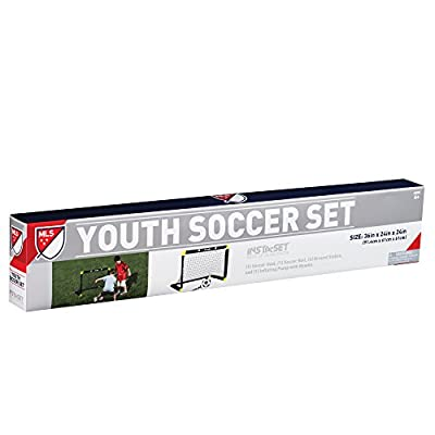 Franklin Sports MLS Mini Soccer Goal Set - 36 x 24 Inch - Includes Size 1 Soccer Ball and Ball Pump