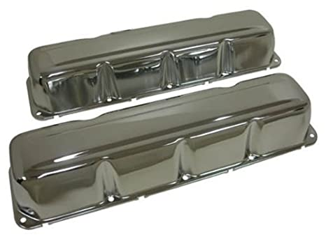 1968-79 Compatible/Replacement for AMC/Jeep 304-360-390-401 V8 Steel Valve  Covers - Chrome