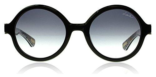Lanvin Paris SLN675V 0APA Black / Print SLN675V Round Sunglasses Lens - Lanvin Mens Sunglasses