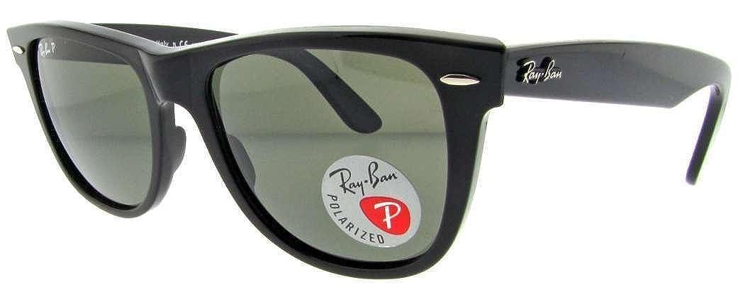 4c84b2a82a Amazon.com  Ray Ban Wayfarer Polarized Sunglasses 2140 (Black Frame Crystal  Green 50mm)  Shoes