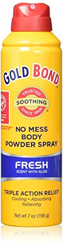 (Gold Bond No Mess Spray Powder, Fresh Scent with Aloe, 7 Ounce, Pack of 2)