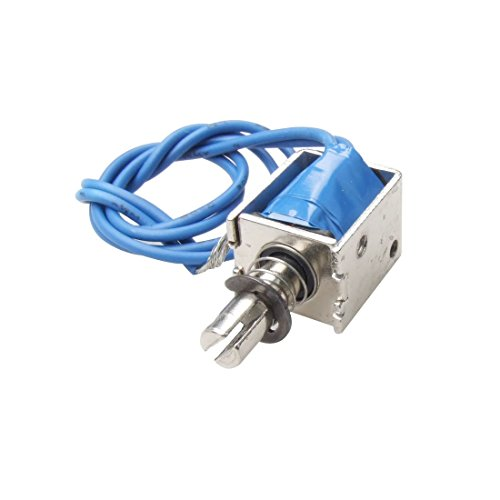 Solenoid Plunger - Uxcell a12022000ux0201 4N Push Type Open Frame Solenoid Electromagnet Actuator, DC 12V, 10 mm