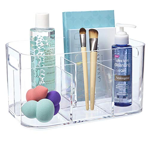 STORi Bliss 5-Compartment Plastic Organizer | Clear (Organizer Acrylics)