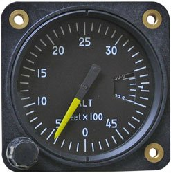 FALCON GAUGE Light Weight Altimeter Light Weight Altimeter 2-1/4 Sensitive, 2-3/8 / 5,500 ft, Inch H ()