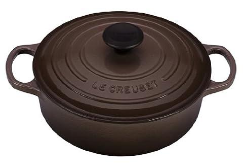 Le Creuset Truffle Enameled Cast Iron Round Wide French Oven, 3.5 Quart