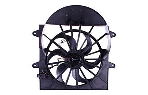 Tong Yang FAN-AM67007A Replacement Radiator/Condenser Cooling Fan Assembly 09- AM GRAND CHEROKEE '09-3.7/4.7L W/Resistor(FAN-AM67007A)