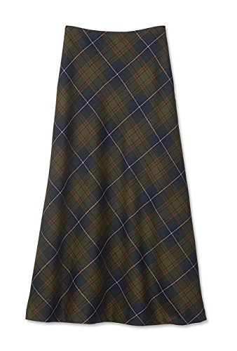 Orvis Women's Italian Wool Bias-plaid Maxi Skirt, 12