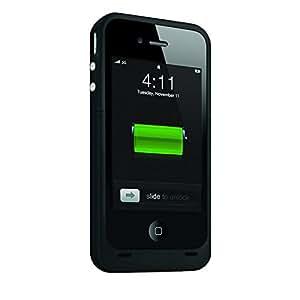 iPhone 5caso: la mayor copias de seguridad de banco de la energía externa recargable Carcasa Cargador Pack Para Iphone 5/5S Lightning puerto de carga rápida estación, Slim Fit slider design, protección de cuerpo completo, interruptor de encendido/apagado, LED indicador de nivel de batería, compatible con todas las compañías. (negro)